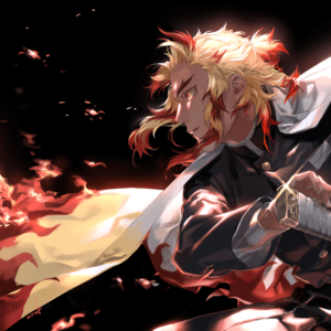Rengoku fire wallpaper scaled