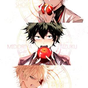 Izuku baku shoto eating apple scaled
