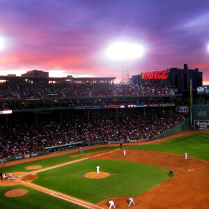 Fenway park in afternoon