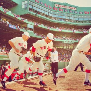 Fenway park with classic jerseys