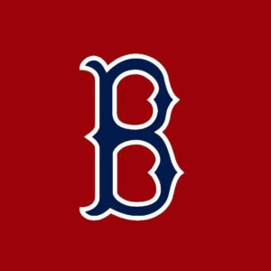 Red sox b logo with redbackground