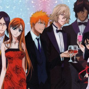Bleach characters dressed for event