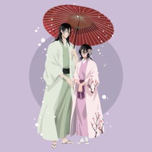 Byakuya with rukia happy scaled