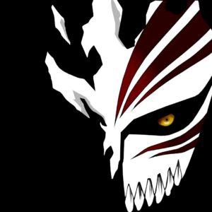 Ichigo hollow mask black background
