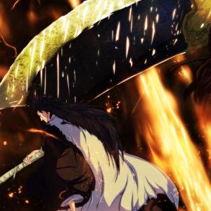 Kenpachi with huge sword