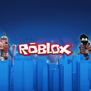 Roblox wide screen background blue