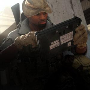 Black soldier skin game graphics