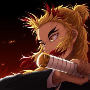 Rengoku kyojuro with sword