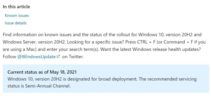 Microsoft announces windows 10 version 20h2 ready for broad deployment 532971 2