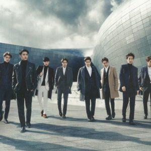 EXO members wearing suits wallpaper