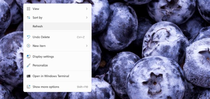 Microsoft Brings Back the Refresh Option to Windows 11 Context