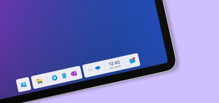 windows 11 taskbar concept looks beautiful will never happen 533461 2