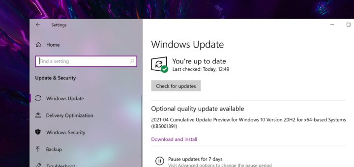 Whats new in windows 10 cumulative update kb5005033