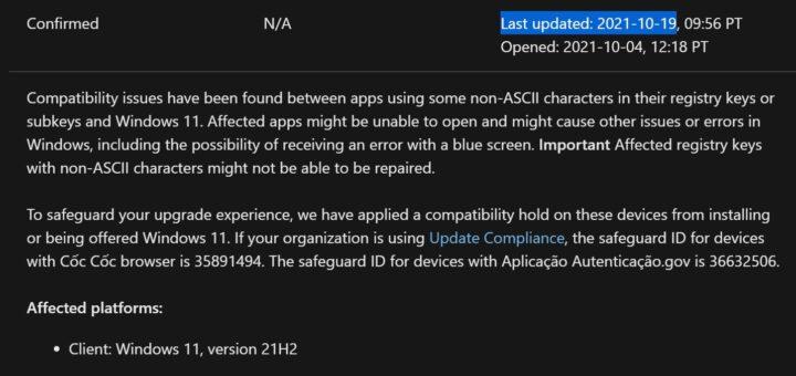 Microsoft confirms another windows 11 bug